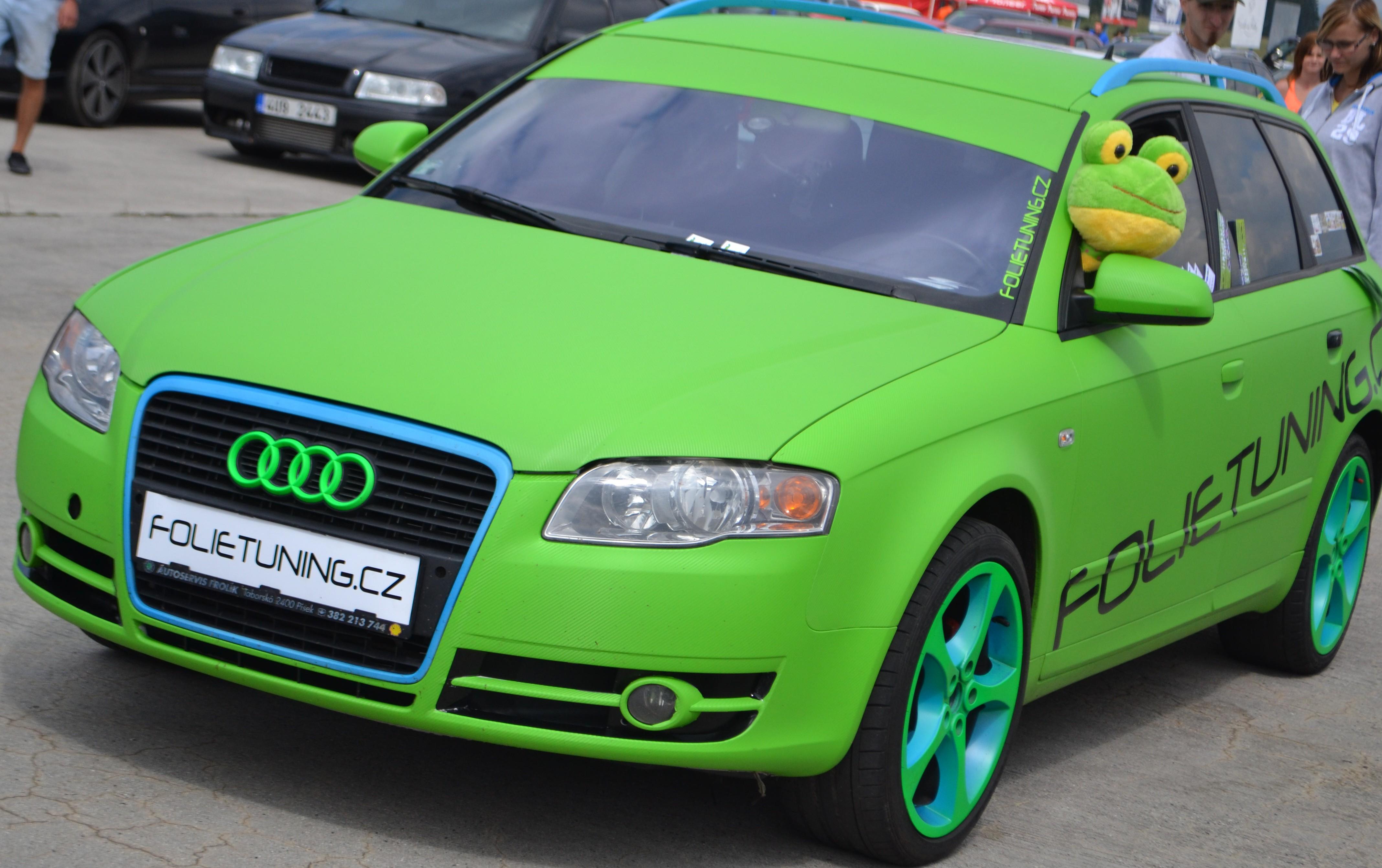 Audi A4 Avant 3D Carbon Green Tuning Extreme show Příbram